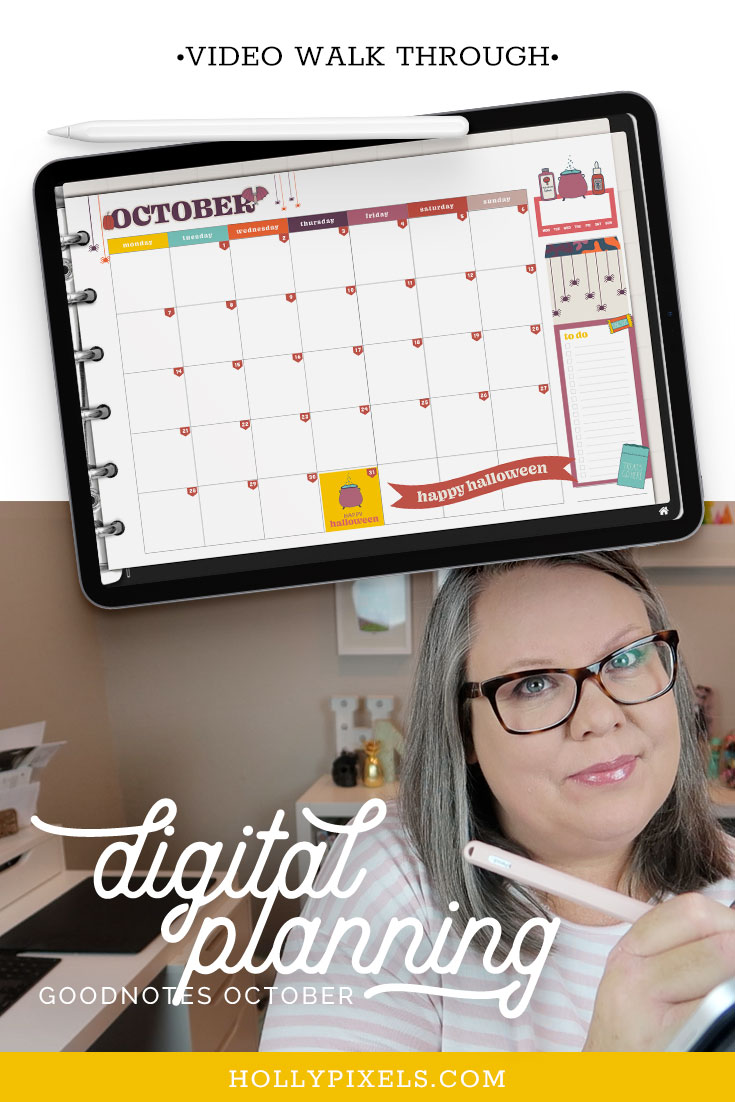 It's launch day at Holly Pixels and our new October digital planner stickers and collections are in the shoppe. Here is a Plan With Me walk through of October in our monthly planner for you.