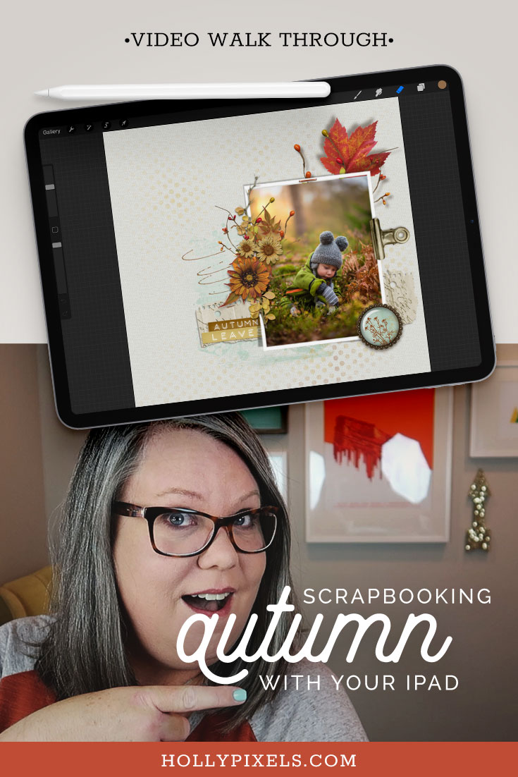 Today I'll show you a quick way to scrapbook in Procreate with our low res options - so you can save them for your GoodNotes planners and for online use! This week I will use the new kit by Vicki Robinson Designs!