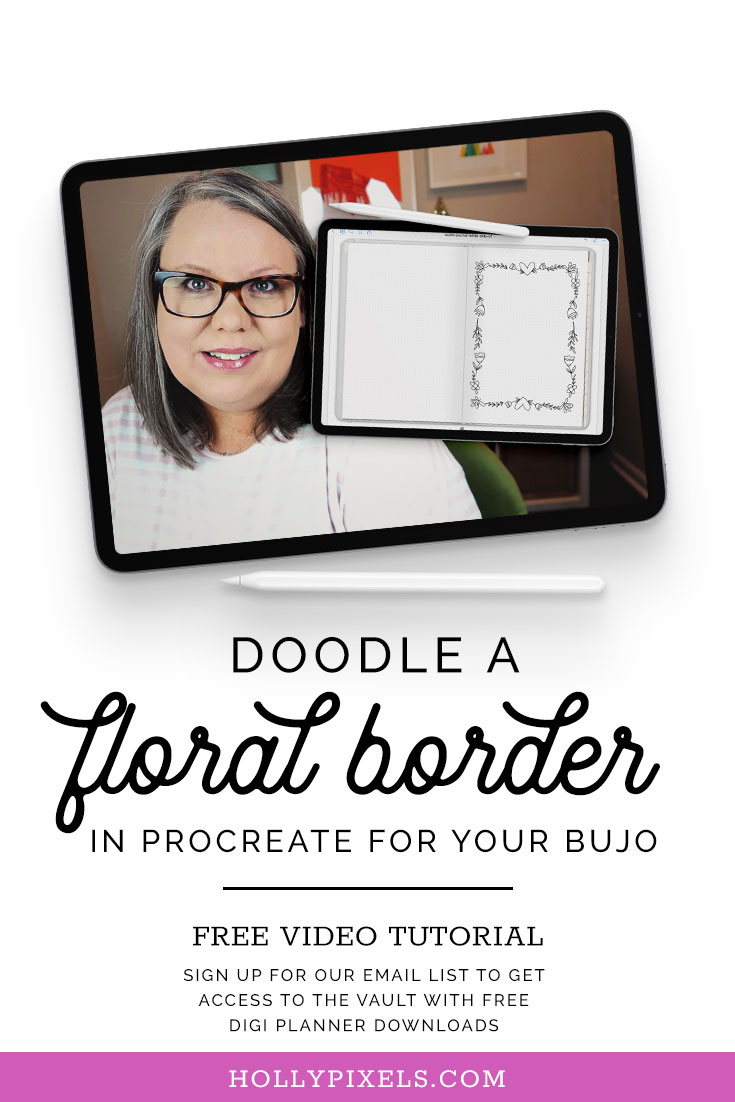 Hey there! You love doodling, right? I thought it would be fun to combine Procreate and GoodNotes and show you how to draw this cute floral doodle border in Procreate and then how to bring it into your digital BuJo in GoodNotes.