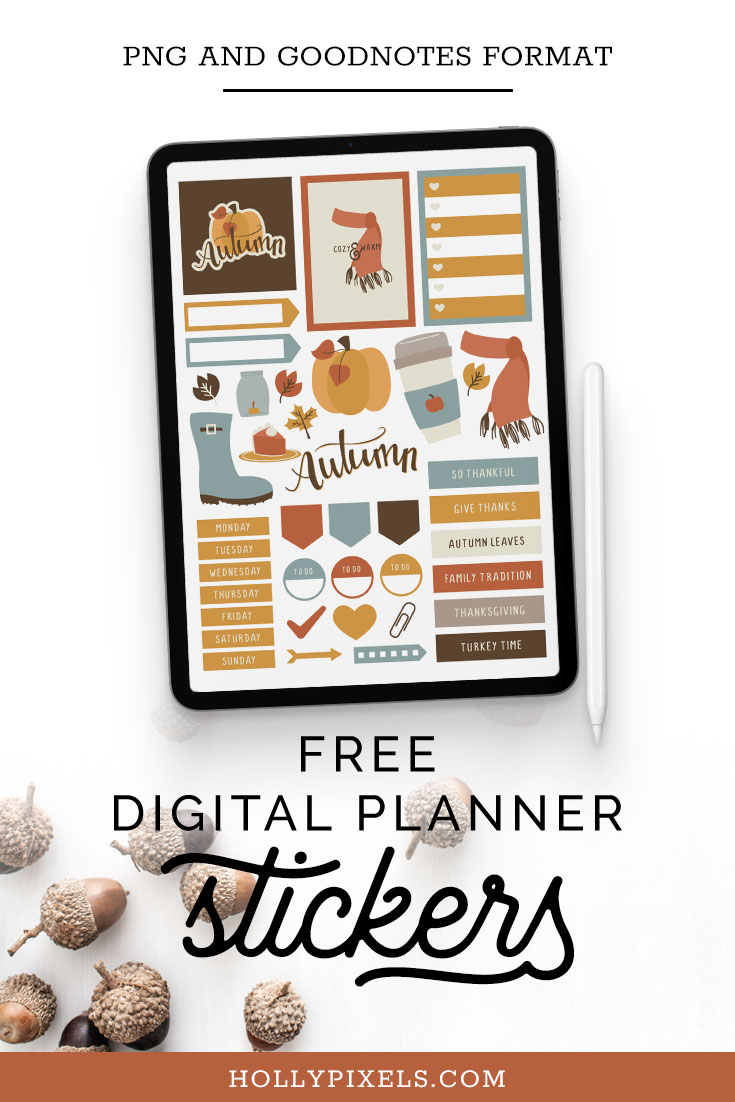 Come grab our free Autumn digital planner stickers for your digital planning needs in the Vault! These free stickers are for personal use only and sure to give you a chance to try before you buy in our shoppe.