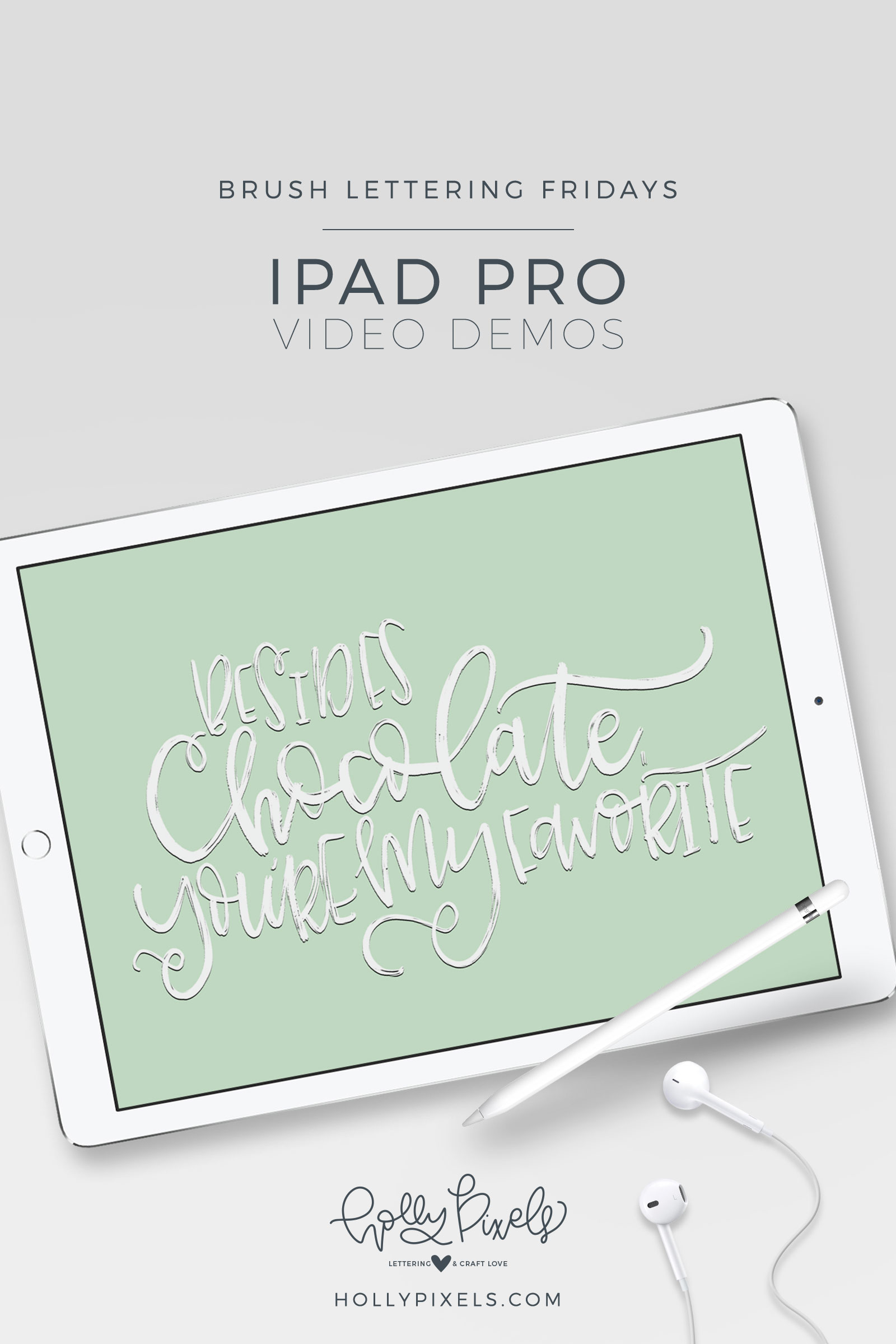 It's time for another brush lettering on iPad Pro Friday! With Valentine's Day right around the corner, I figured you could express your love with this quote. Watch my brush lettering video below and subscribe to my YouTube channel!
