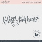 Bless your heart! This SVG Sayings design is a cut file created just for the southern women. Our Quote SVG can be used with Cricut or Silhouette Cameo.