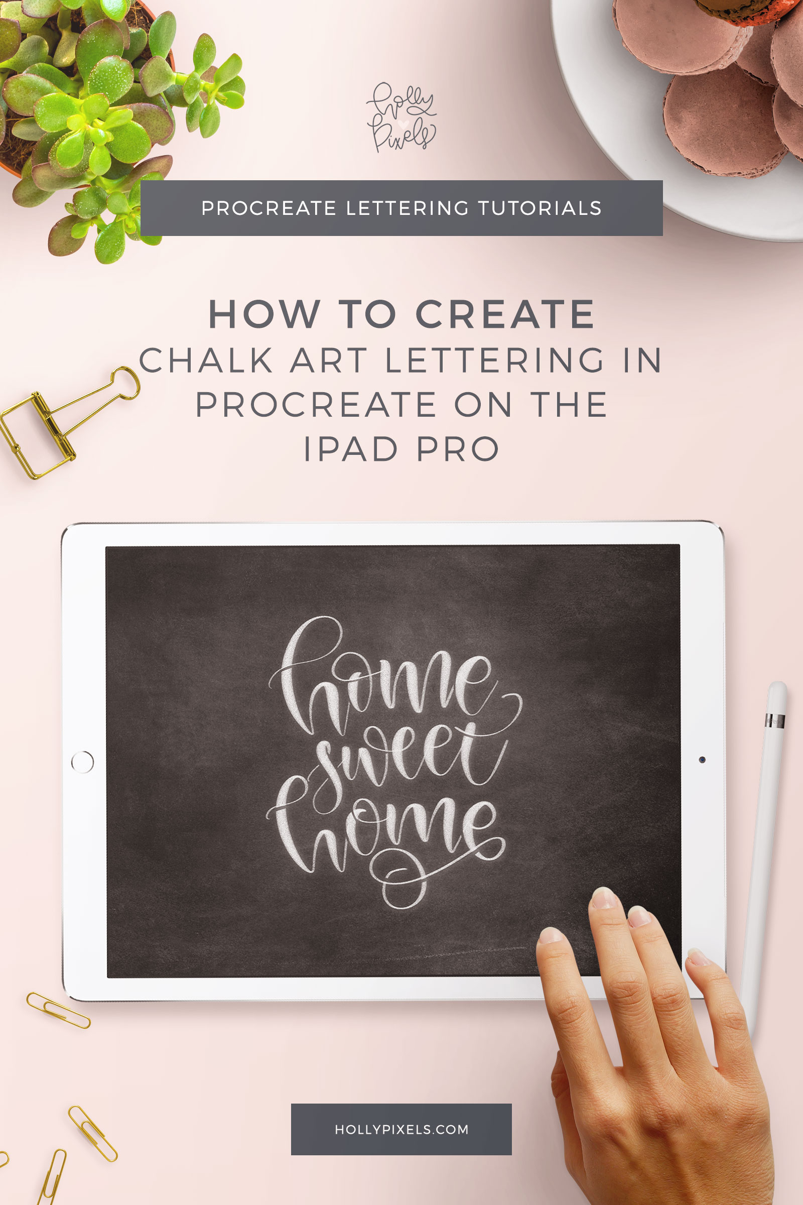 Today I'm going to show you how to make chalk lettering art in Procreate. The Procreate app has unlimited possibilities for your brush lettering artwork. Let's stretch those possibilities and create some digital chalk art like you would in other popular programs like Photoshop.