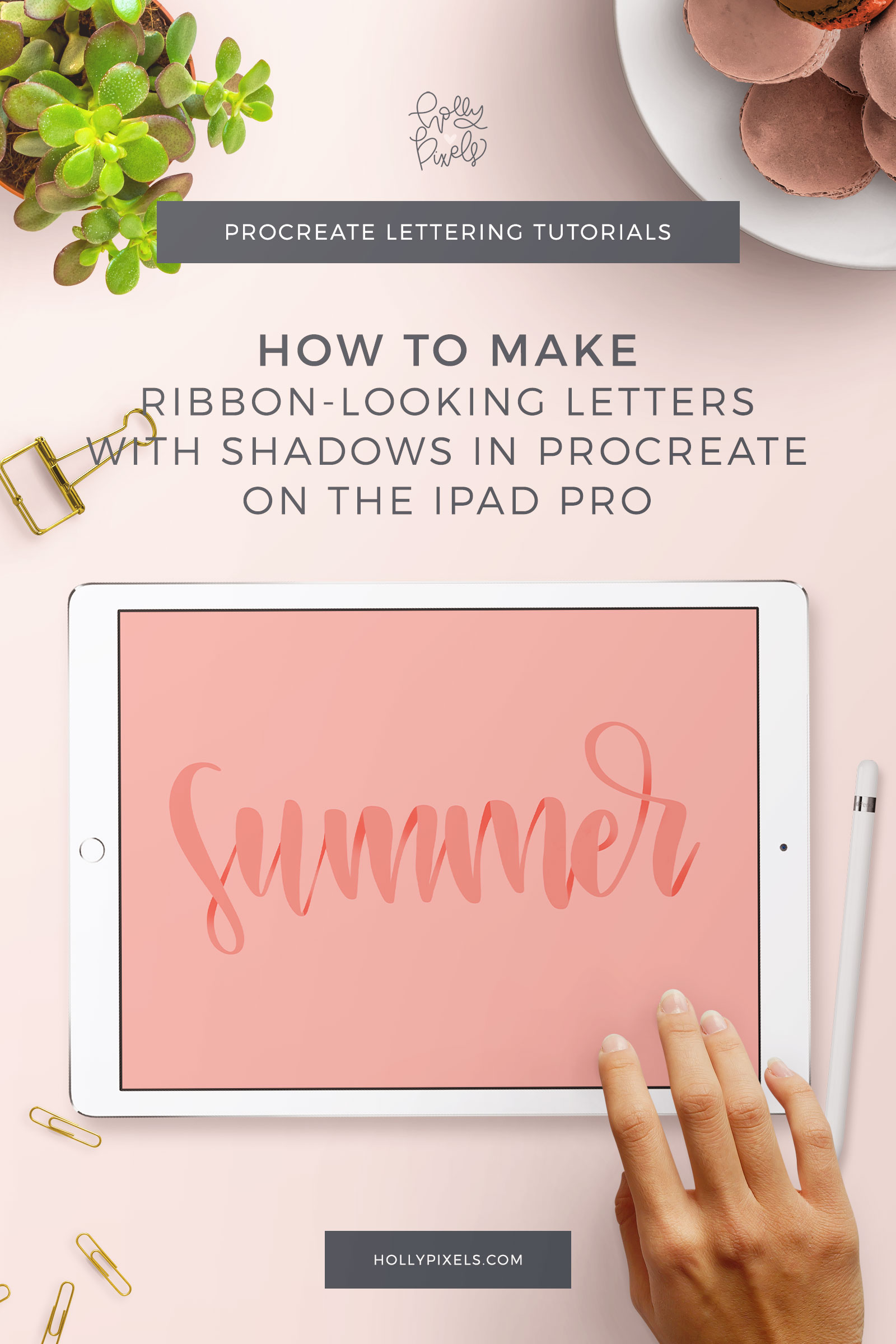 Ever see those really cool ribbon shadow effect looks with brush lettering? Well, today I'm going to show you a tutorial on how to create a ribbon shadow effect in Procreate so you can jazz up your brush lettering.