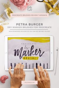 This week's Procreate brushes review features Dry Marker Brushes by Petra Burger that can be purchased at Creative Market. Every Tuesday I pick a new brush set for Procreate to purchase and show you what you're getting.