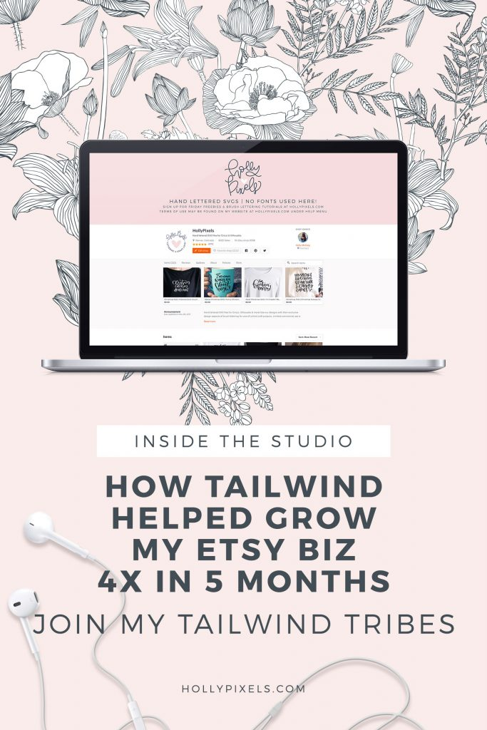 Learn how Tailwind helped grow my Etsy business 4X in 5 months. I make a living from Etsy and you can too. Join my Tailwind Tribes for added boosts to your listings.