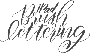 iPad Brush Lettering with Holly Pixels using Procreate. Get a free Procreate Brush.