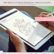 Learn iPad Lettering | Brush Lettering in Procreate with my guide and free course.