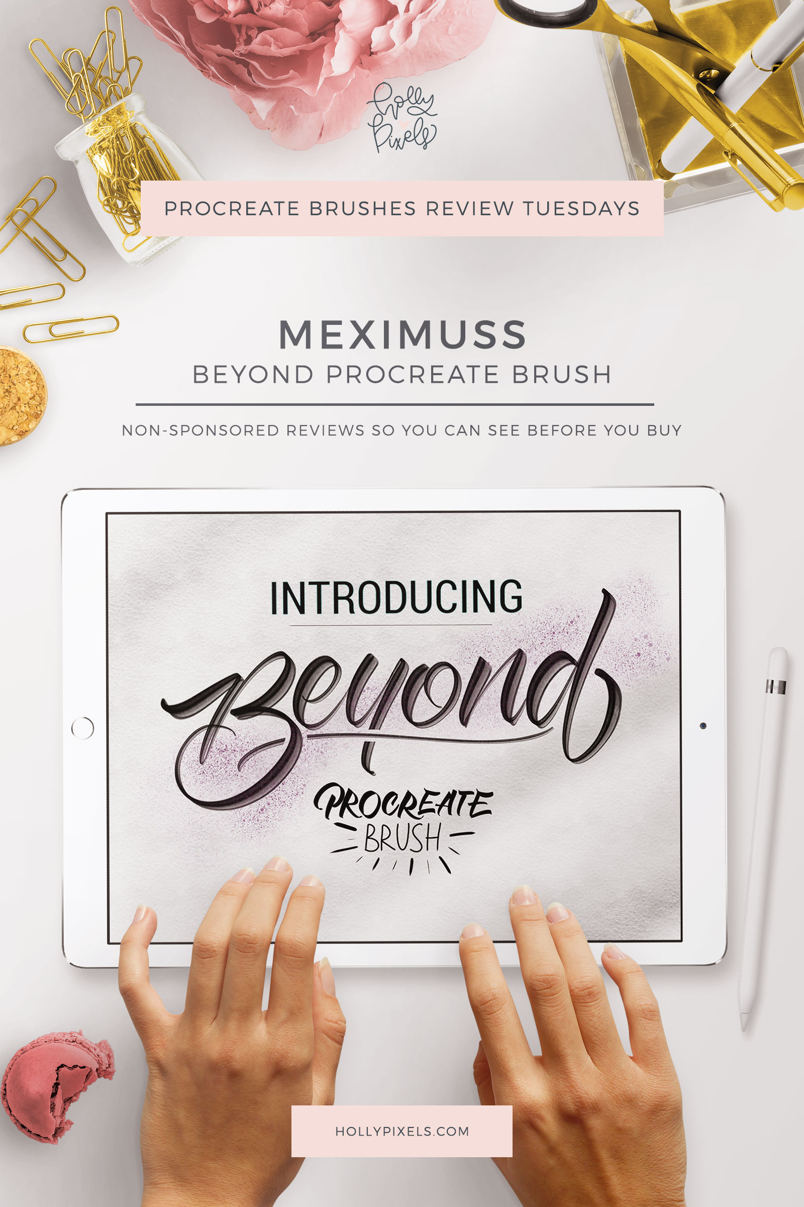 This week's Procreate brushes review features a sign painting style brush Beyond Procreate by Meximuss that be purchased at Creative Market. Every Tuesday I pick a new brush set for Procreate to purchase and show you what you're getting.
