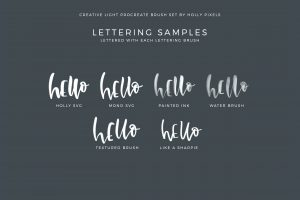 The Creative Light Procreate Brushes Set was designed to give you more creativity over your iPad lettering projects in Procreate. With artistic brushes you can move on from basic lettering brushes and stand out from the rest of Instagram. Get creative and letter with passion.