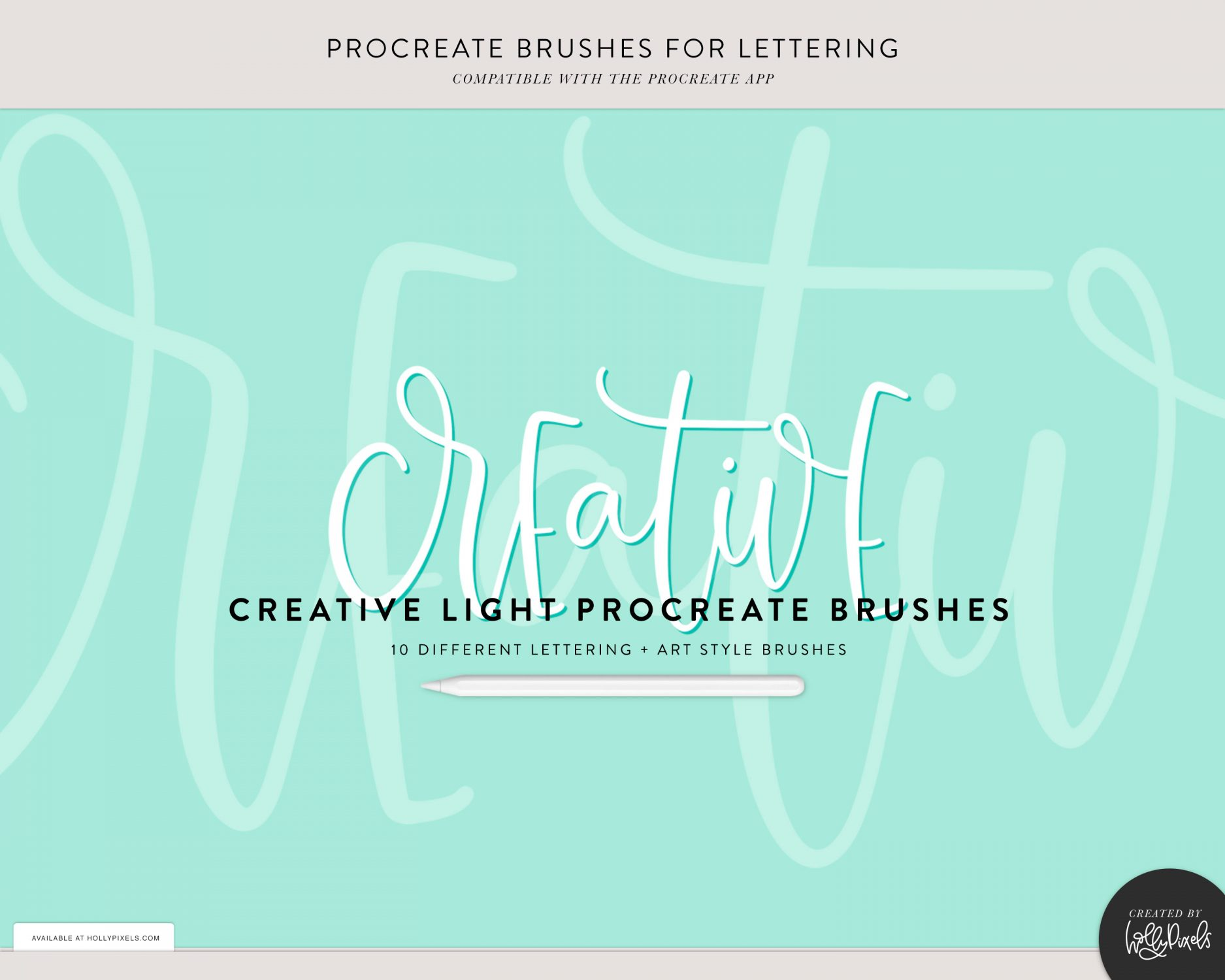 Fun Lettering to Inspire You In Procreate with Procreate Brushes 3