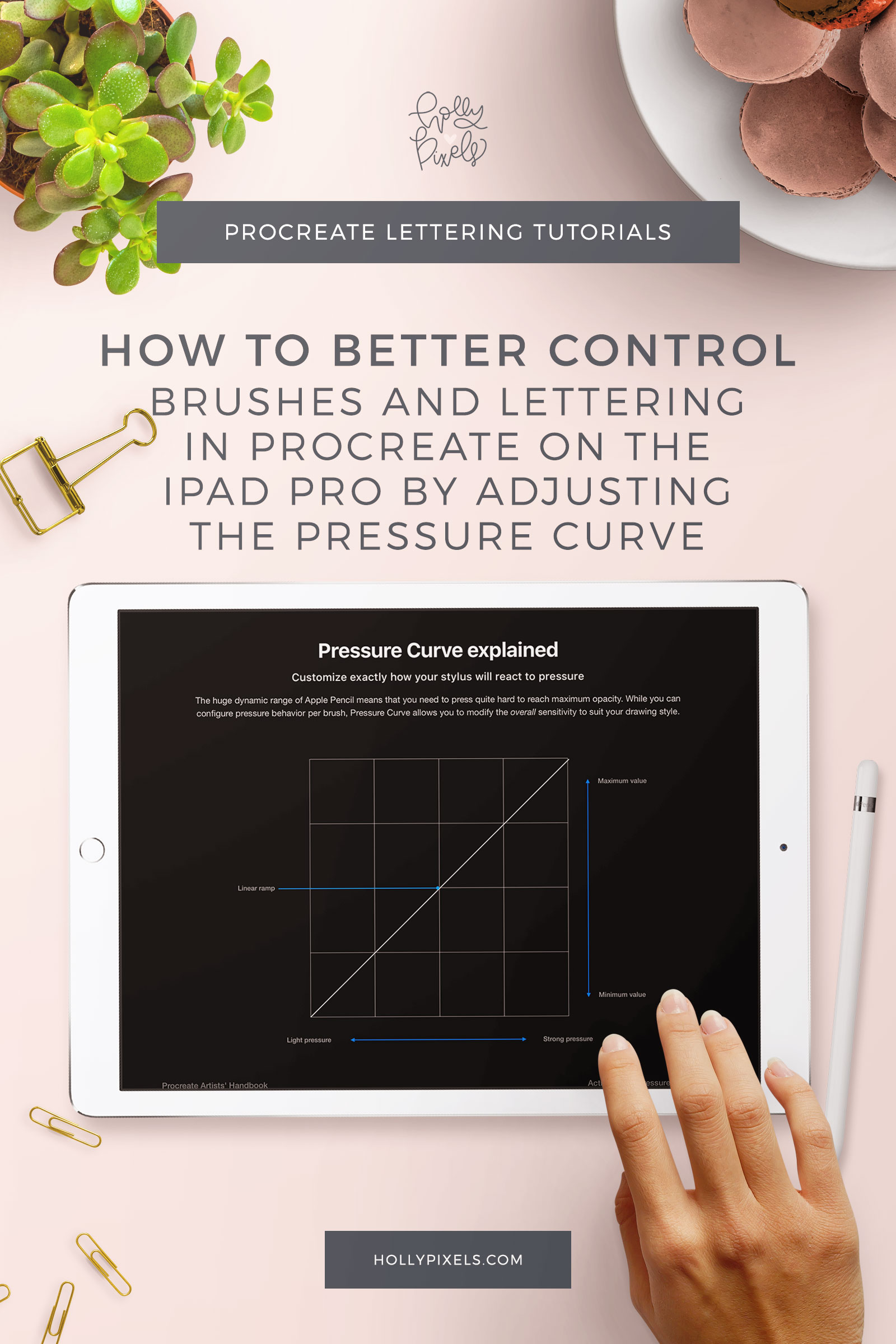 Did you know that you can adjust a setting called Pressure Curve in Procreate so that you can better control your lettering and improve it? Yep, you can!