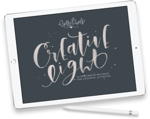 Creative Light Procreate brushes by Holly Pixels.