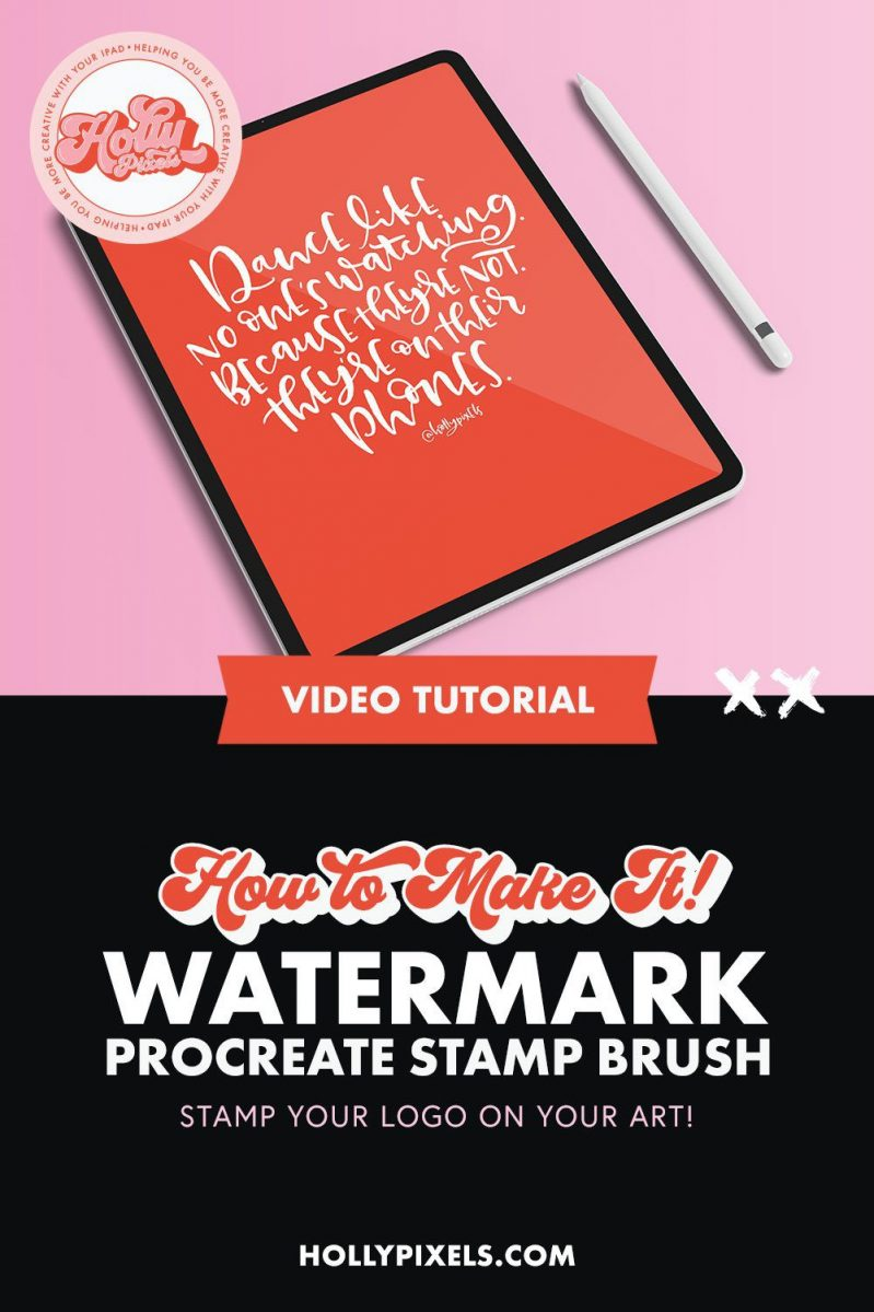 Learn how to create a watermark brush in Procreate with this easy Procreate tutorial video.