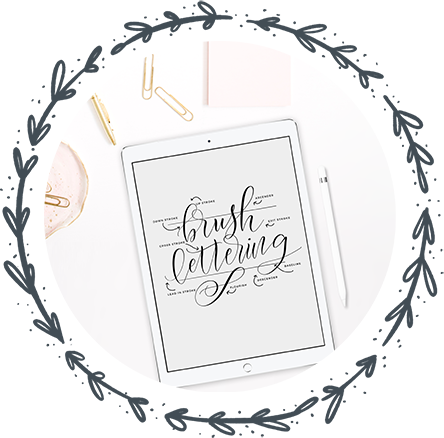 Holly Pixels is a lettering artist that teaches lettering on the iPad Pro for beginners, advanced lettering artists and how to have a successful lettering career.