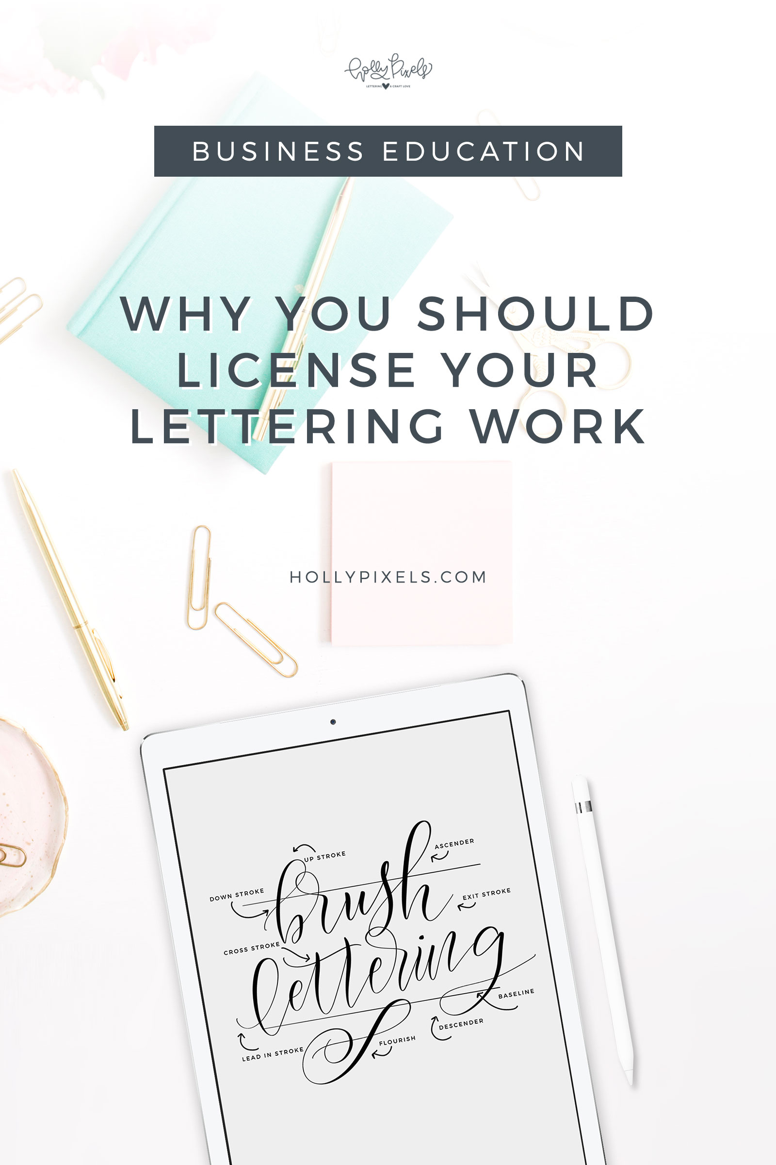 I wanted to write an article about licensing options for lettering artists like myself. I wanted to educate new artists and more seasoned artists, but also the consumer.