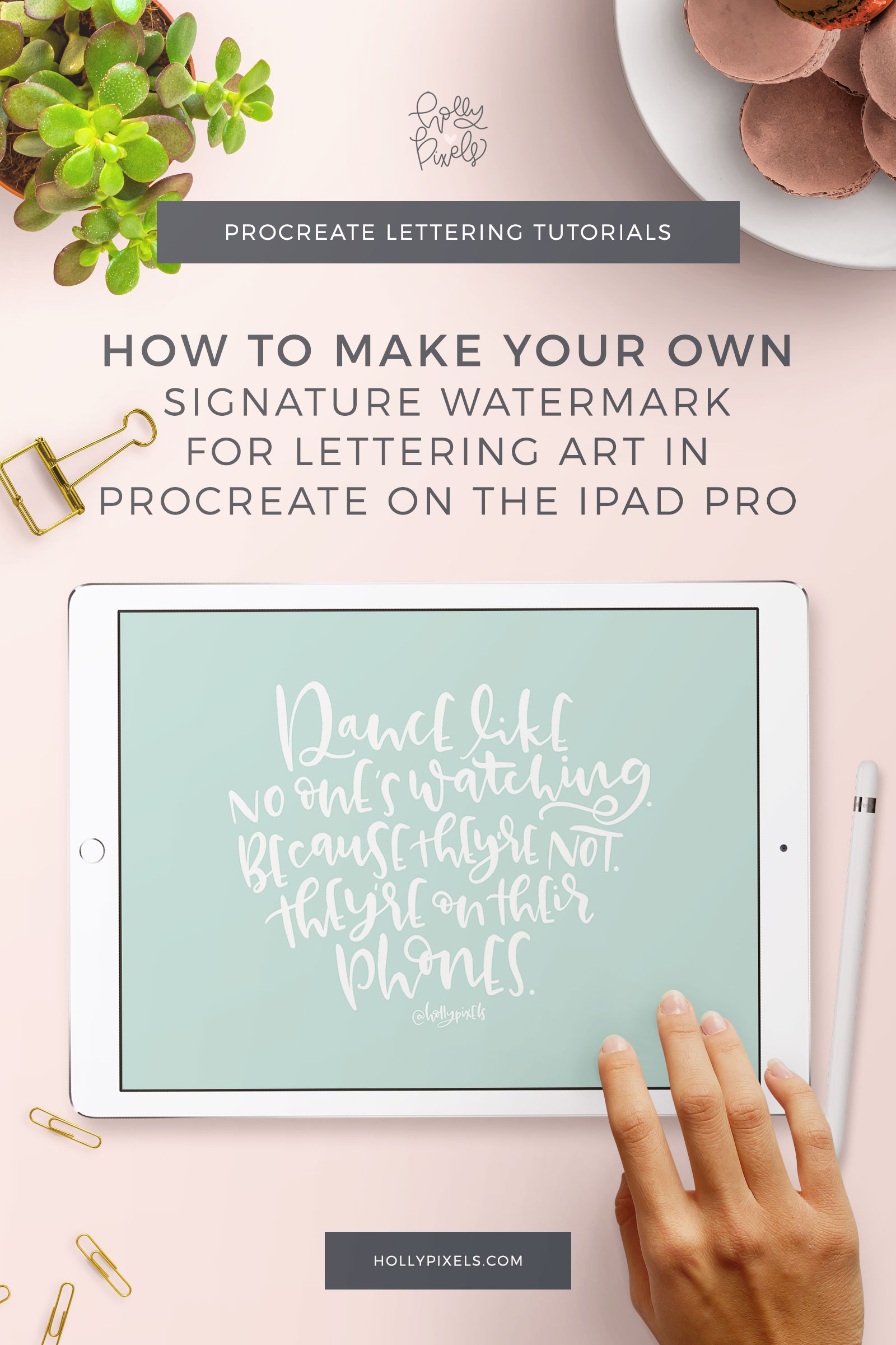 In this tutorial I'll show you how to create a signature watermark brush in Procreate so you can sign your lettering art digitally, quickly.