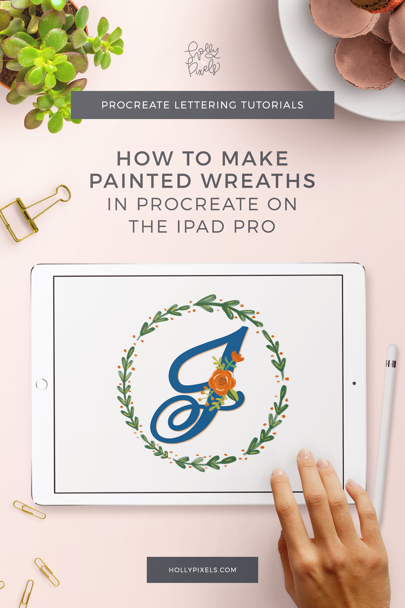 This week I'm going to show you how I created painted floral wreaths in Procreate on the iPad Pro so we can piggy back onto last week's video. Anyone can learn brush lettering.