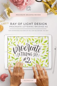 Try before you buy! I enjoy doing Procreate Brush Reviews for you so you can see brushes in action first. This time I'm reviewing the Procreate Lettering Set #2 by Ray of Light Design on Creative Market. If you're looking for a starter lettering brush set, check this out.