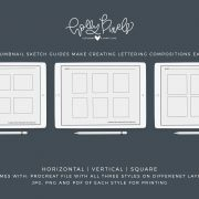The key to building great lettering compositions is using the thumbnail sketch process. Rough sketches to build compositions help you visualize your ideas so you can move forward with lettering the perfect layout.#hollypixels