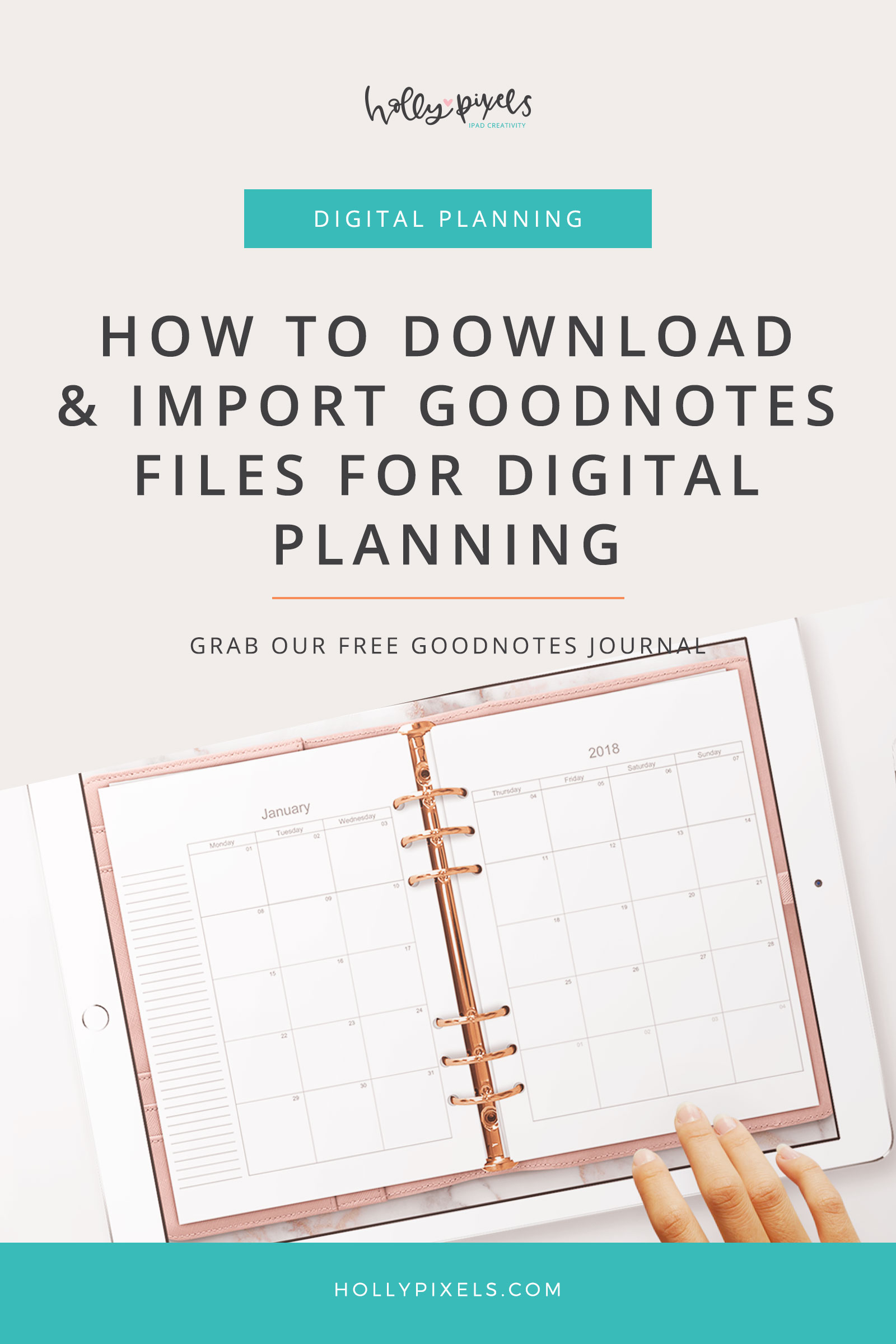 GoodNotes is an amazing app for Digital planning and is trendy about digital planners right now. Here's how easy it is to load GoodNotes files into your app and get started planning on your iPad!