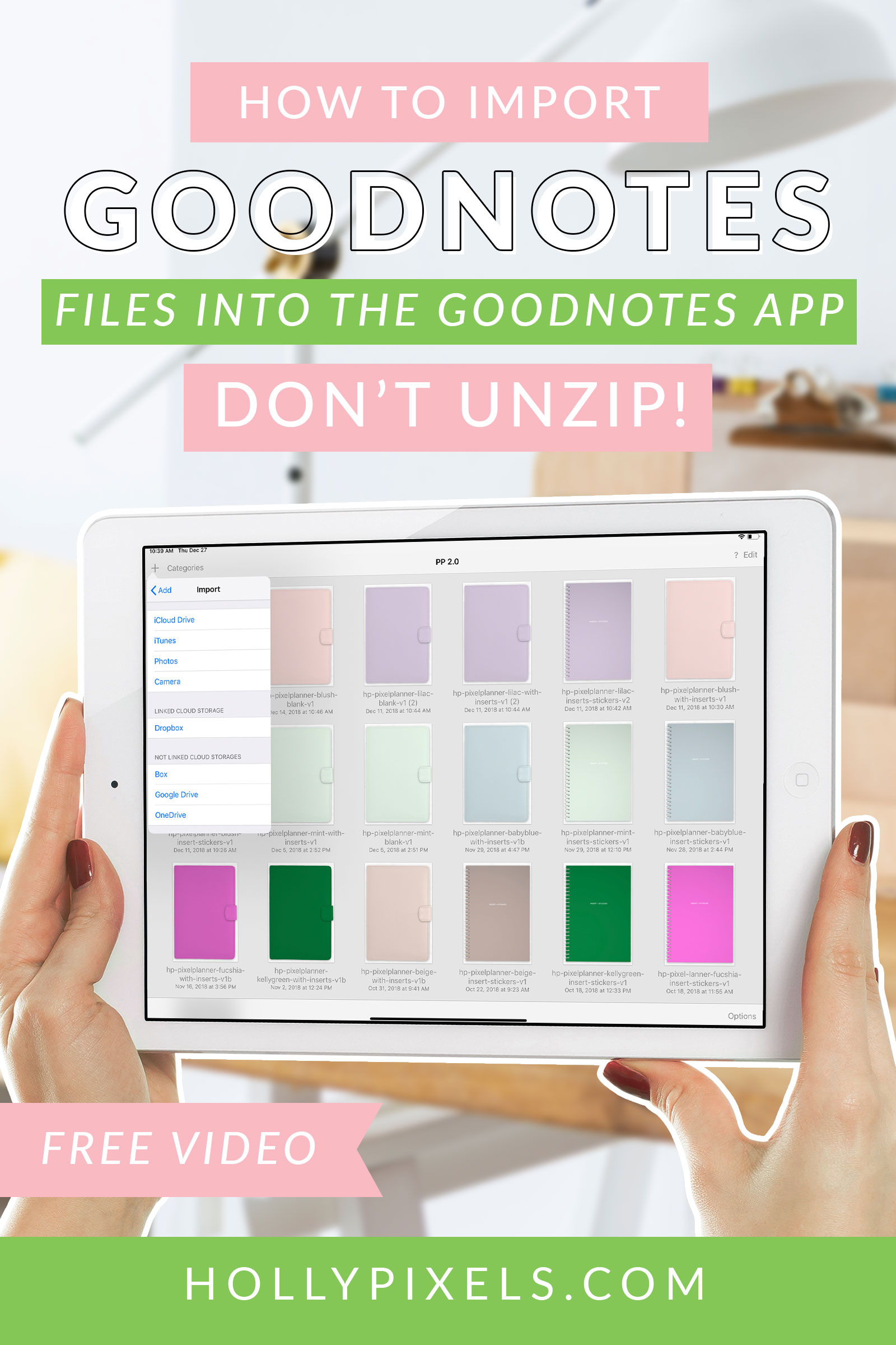 Digital planning is fun and easy. But maybe you're not sure how to import GoodNotes zip files from the shoppe into the app. In this tutorial I'll show you how you do that. Our files are .goodnotes.zip files which makes you think you should unzip them. But you don't! Watch the video to see how to get yourself up and running with GoodNotes for digital planning.