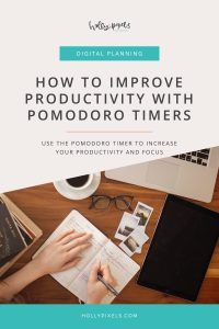 As creatives it can be a challenge to stay on track with productivity. This week I'll share how to improve productivity with Pomodoro timers.