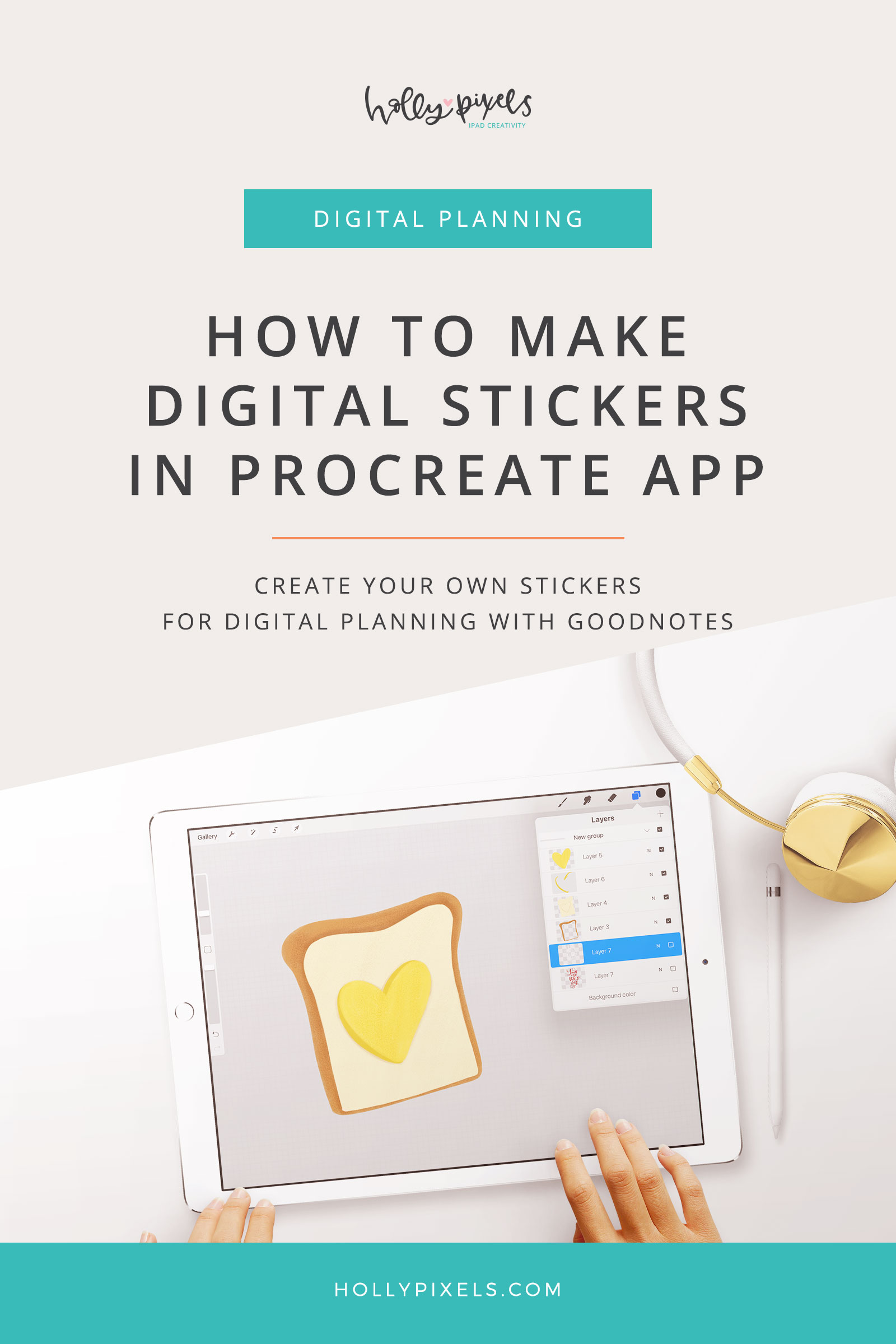 In this video I'm super excited to crossover my Procreate users with GoodNotes for digital planning. I'll show you how to use Procreate to create stickers for GoodNotes digital planners so you can customize your planning in a fun way!