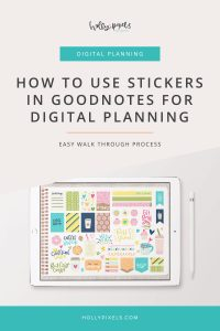 Wonder how you can easily use our GoodNotes stickers files and move individual stickers to your monthly planners in GoodNotes? It's easy! All of the files are set up as GoodNotes files so you don't have to do any cropping or anything!