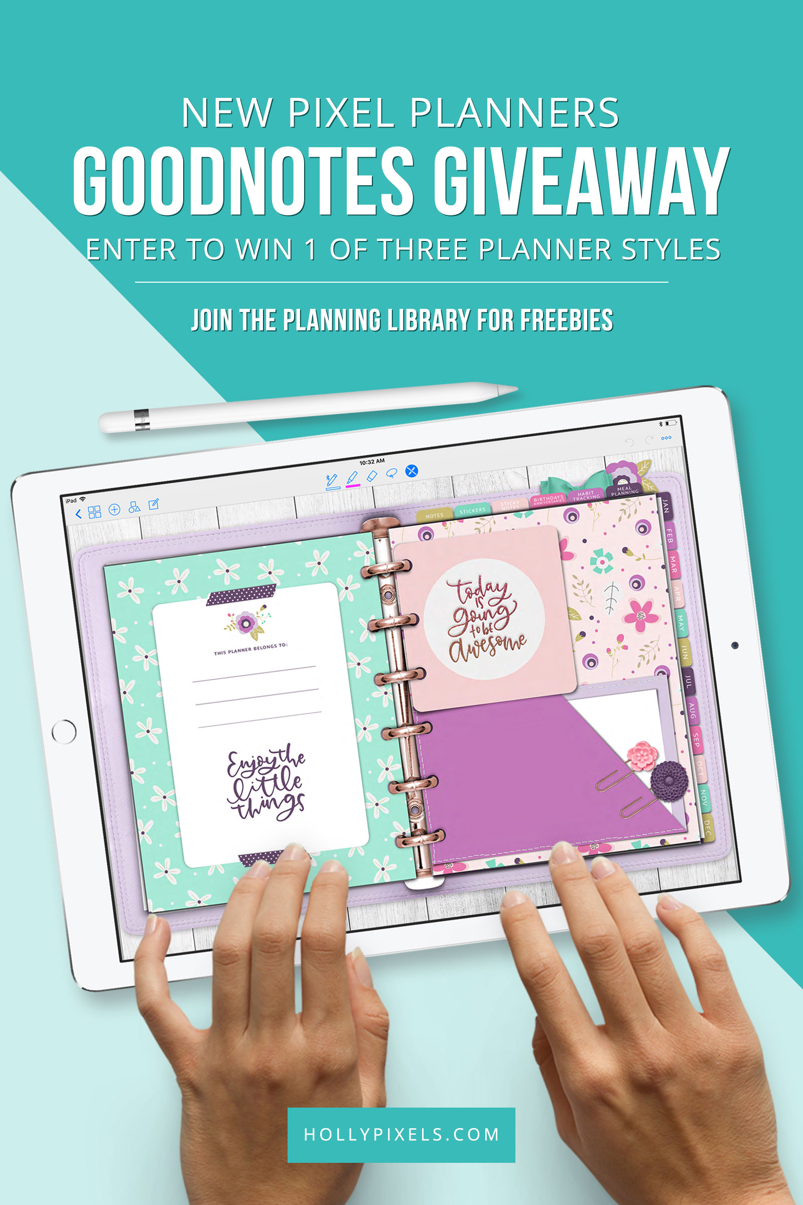 They are here! Our new Pixel Planner styles are in the shoppe and ready to purchase for your digital planning with GoodNotes. We are super excited to be bringing you our labor of love in three styles.