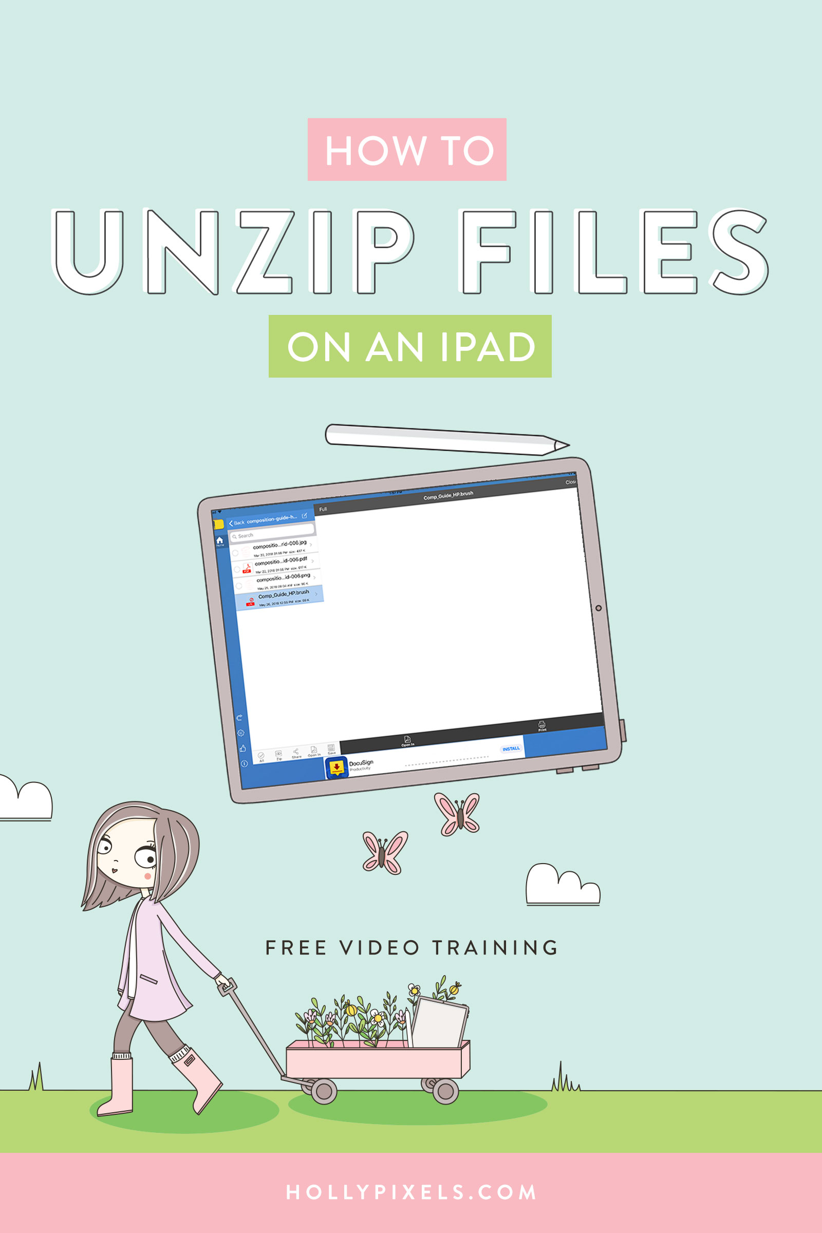 Unzipping files and understanding what the heck a zip file is can be confusing if it's not familiar to you already. I'm going to break down file extensions for you and explain what each one means as well as how to unzip using the iPad.