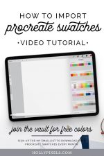 If you're struggling to figure how the heck you import Procreate swatches you may have downloaded from us, we've put together a simple video tutorial to help.