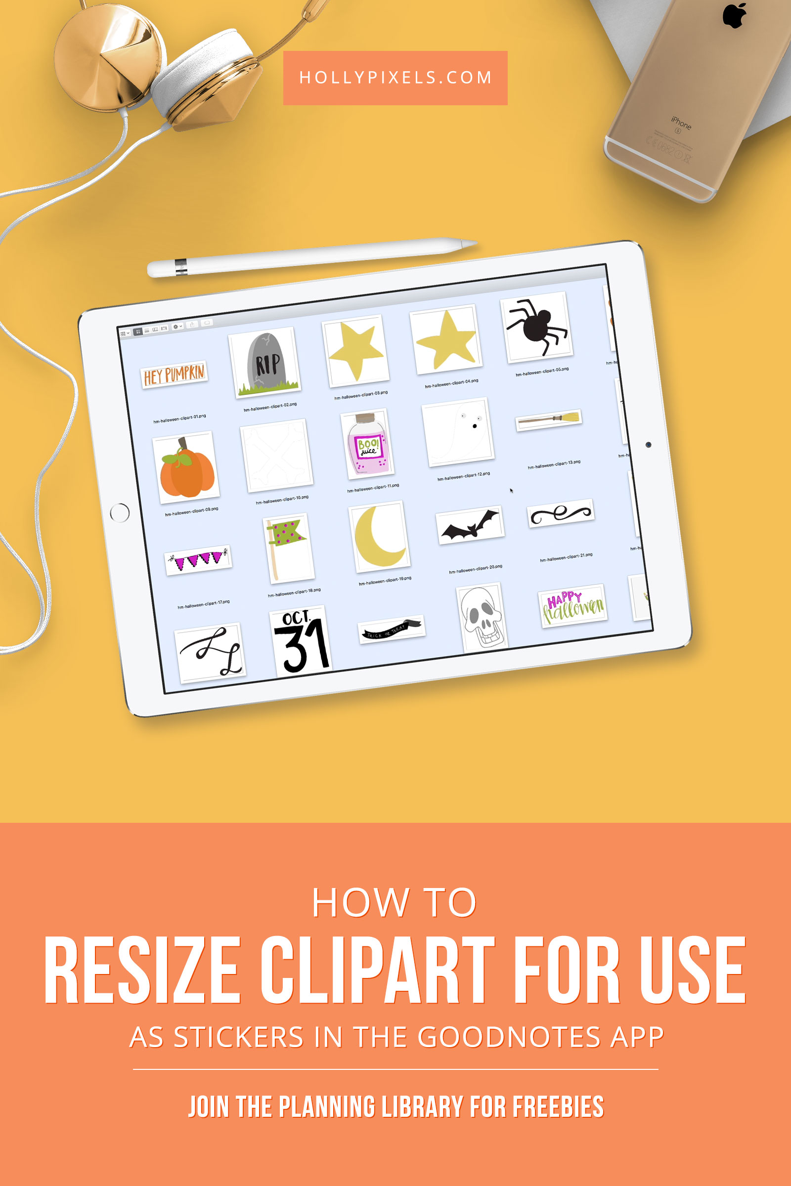 If you're in love with clipart and want to use it as GoodNotes stickers you can! We just have to resize them so they don't blow up the file space on our iPads. Watch as I show you a free way and using Photoshop.