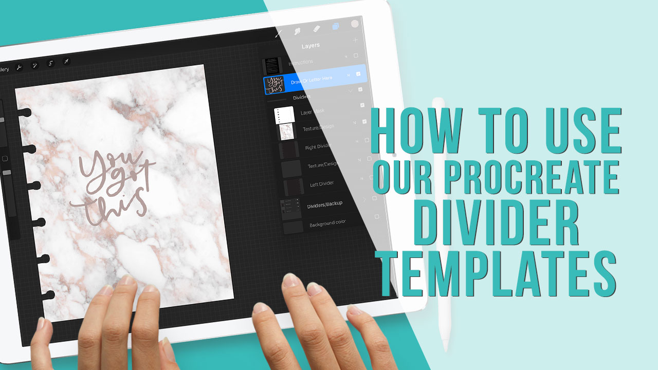How To Use Our Procreate Divider Templates Youtube Holly Pixels