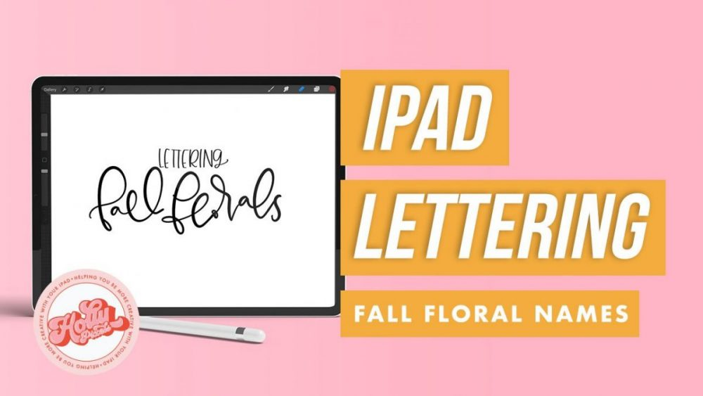 If iPad lettering is your thing and you're trying to understand how to do lettering in Procreate, sometimes just watching someone letter can be the best lesson in the world. This Procreate video tutorial is more of a watch me letter video in that I'm lettering fall botanical names in Procreate from my September 2018 challenge over on Instagram. For more Procreate videos, visit hollypixels.com.