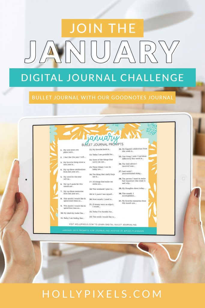 As we continue to build our digital planning products and resources for you, it was a given we would introduce bullet journaling to our digital products and tutorials. This week we launched our digital bullet journal that you can upload to your GoodNotes app. So, to help you even further we have built a set of journaling prompts to make 2019 full of memories.