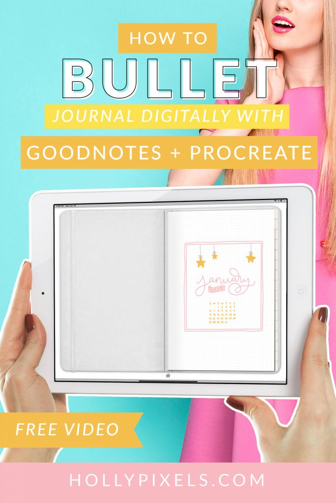 Bullet journaling on the iPad is super easy now with our new bullet journal books. These books work with GoodNotes, or install our PDF files to your favorite note taking app.