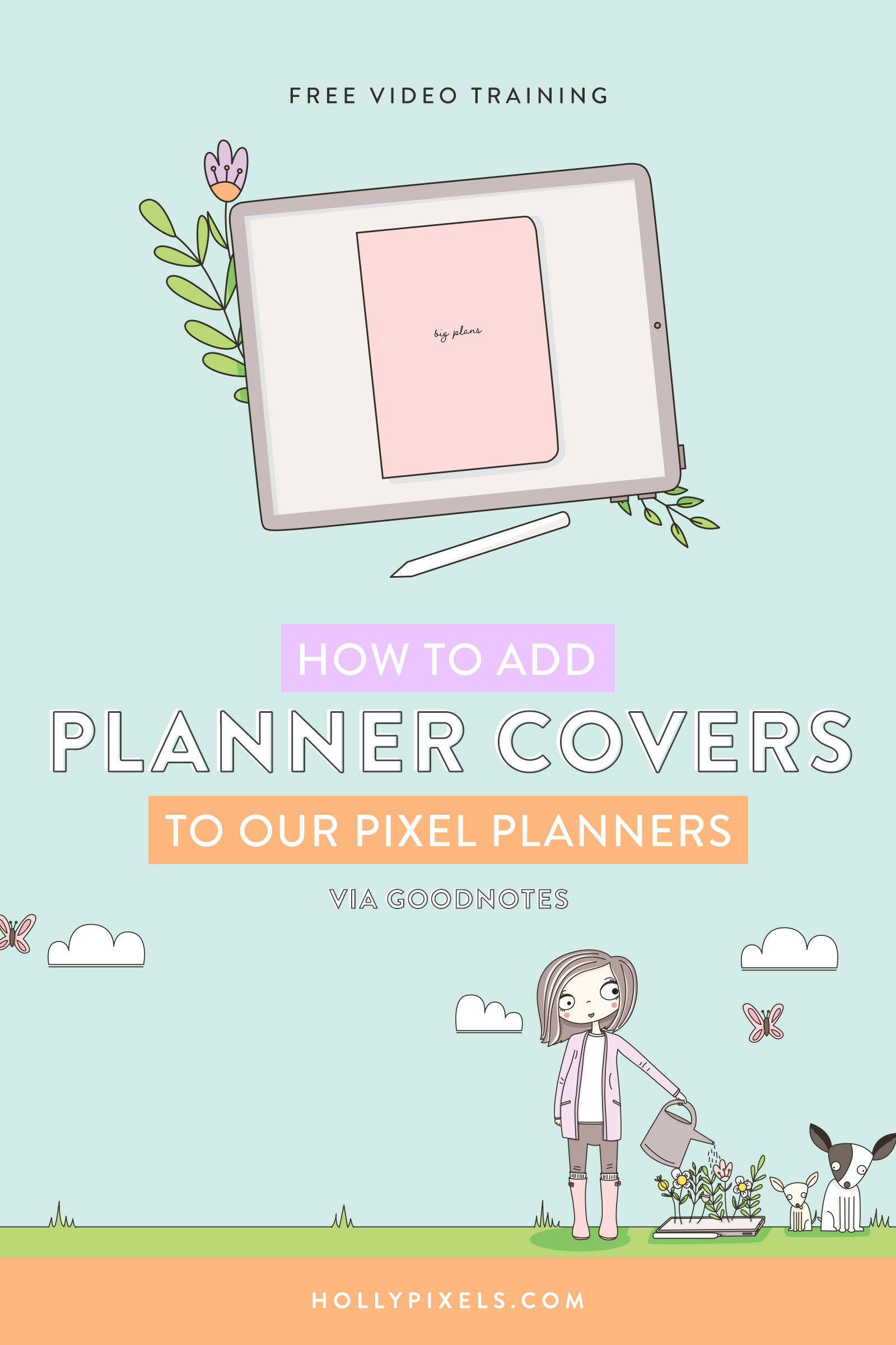 We sell a lot of really cute covers for your Digital Planners in the shoppe. This is a great way to duplicate your current Pixel Planner and use it for other things. So you could potentially have five planners but only buy one. But the covers make it hard to figure out which one you're opening.