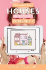 A while back I was drawing tiny houses in Procreate and sharing them on Instagram. It received quite a lot of questions and I knew that it would be too much involvement to make a tutorial. So, Drawing Tiny Houses in Procreate is now a workshop!