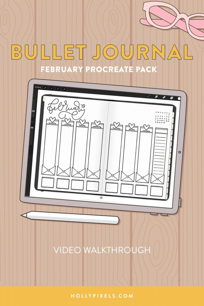 Let's continue this bullet journal process digitally! I'll show you the February Bullet Journal pack and how to edit the files in Procreate so you can quick start your bullet journaling with GoodNotes.