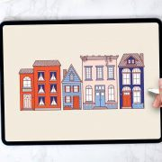 Drawing Tiny Houses - Holly Pixels