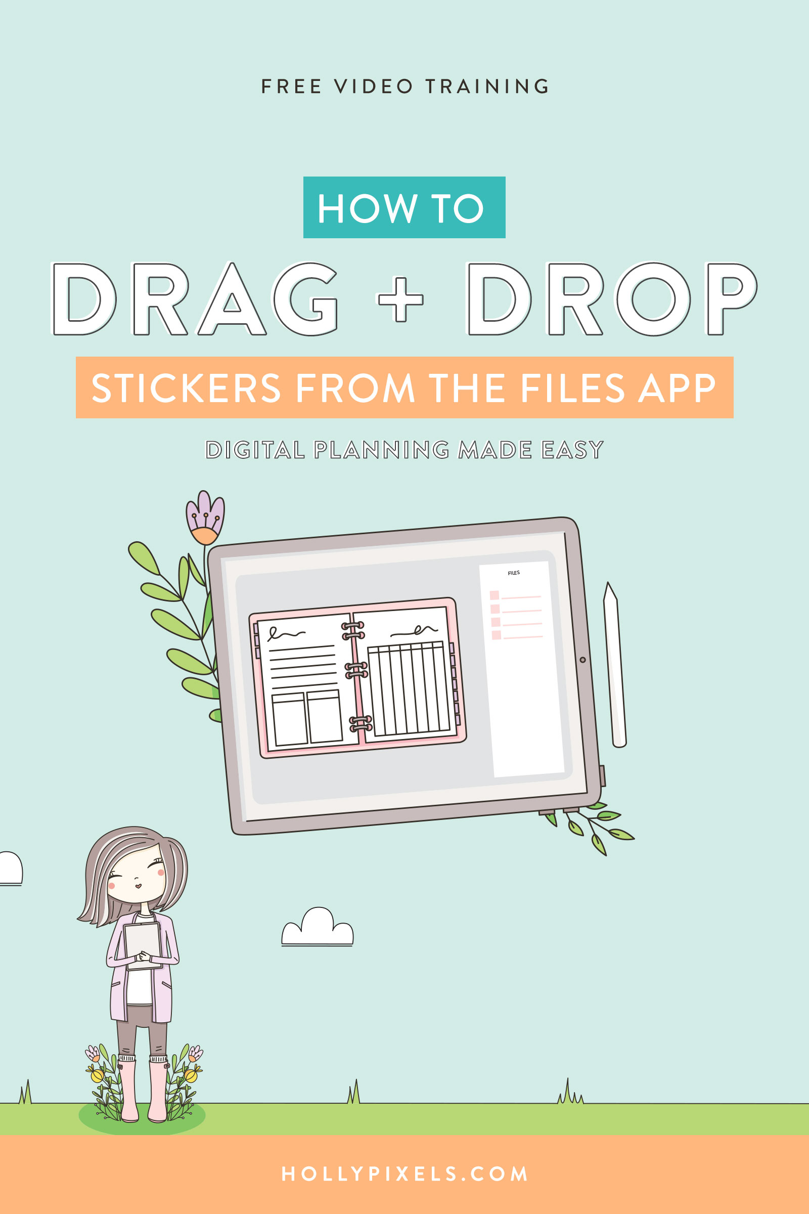 Sometimes you want a better visual for dragging stickers into your digital planner. This trick can speed up the process from having to go back and forth to a sticker book or a different tab.