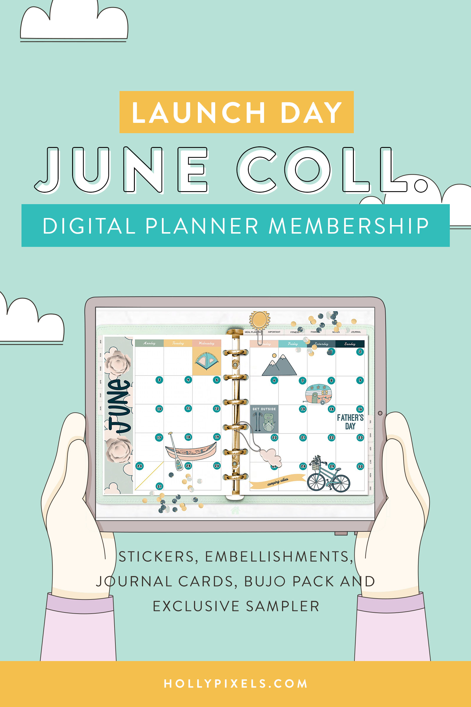 A new month is here! If you are already buying our digital planning products each month why not join our Pixel Pack Membership?