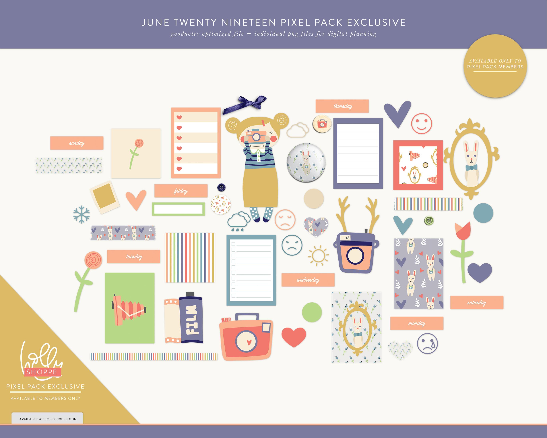 Pixel Pack Membership Launch Day for June 2019 5