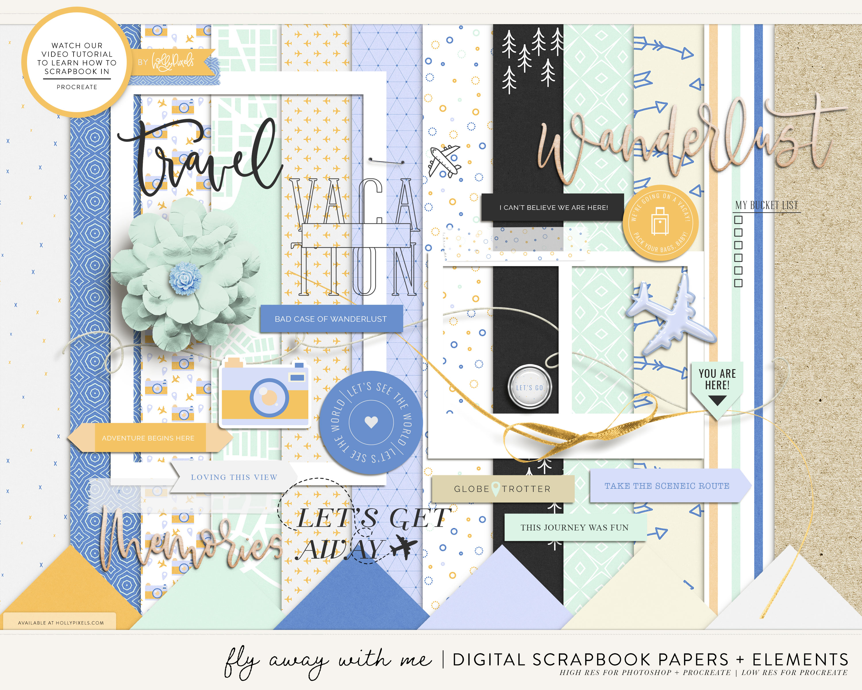 How to Scrapbook on the iPad with Procreate 1