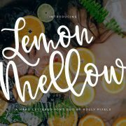 Lemon Mellow Hand Lettered Font by Holly 2