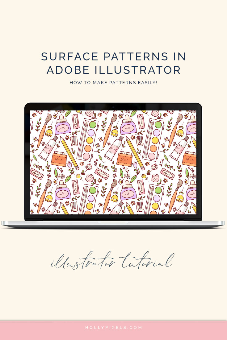 Learn how to easily make surface pattern repeats in Adobe Illustrator with me! This simple video tutorial will turn your illustrations into beautiful patterns.