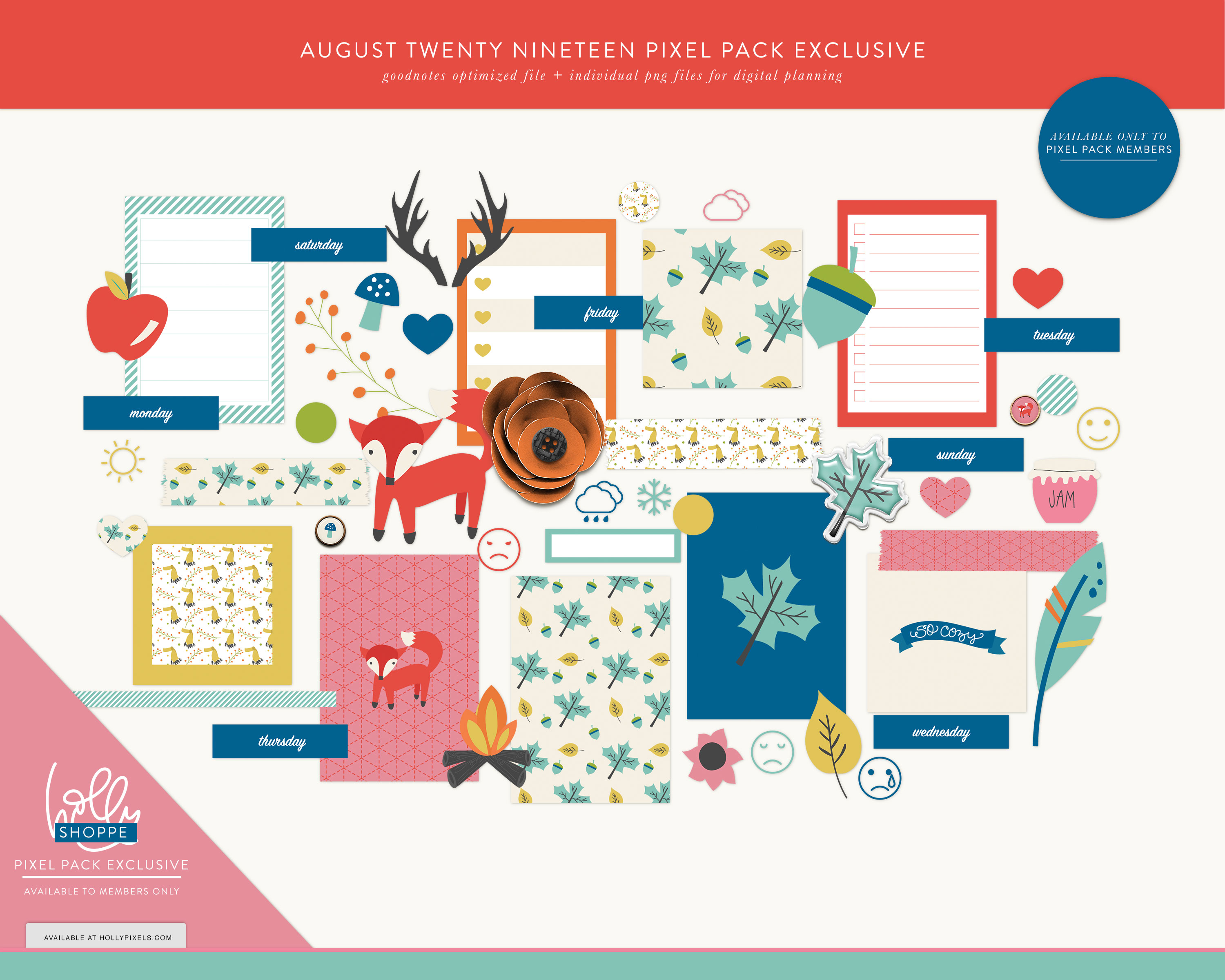 Pixel Pack Membership Launch Day for August 2019 5