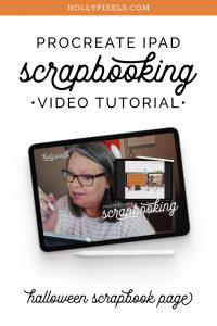 I love Halloween and I love memory keeping. I'll show you iPad Scrapbooking in Procreate for memory keeping on the go using this kit from Time Out Scraps in the shoppe.