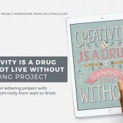 Creativity is a Drug | Hand Lettering Workshop A 2
